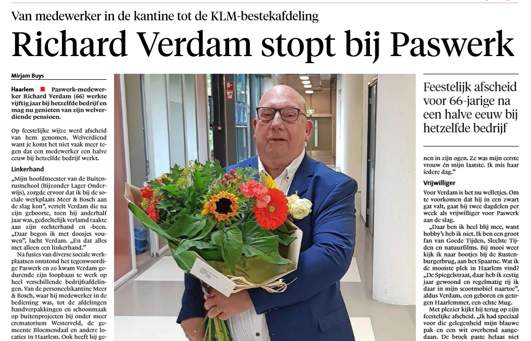 Paswerk in Haarlems Dagblad